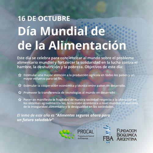 16 de Octubre: Dia Mundial de la Alimentacion